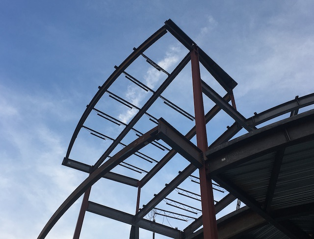 steel framework of a bullding