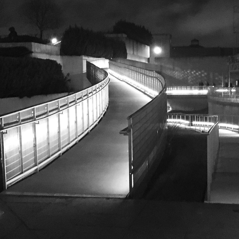 ramp at night with lights