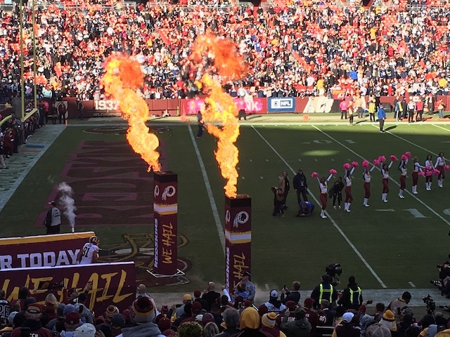 washington redskins football game