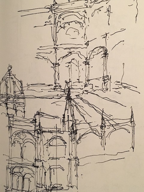 sketch of foreign city